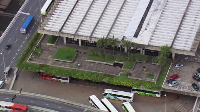 MS AERIAL View of Belo Horizonte Bus Station / Minas Gerais, Brazil