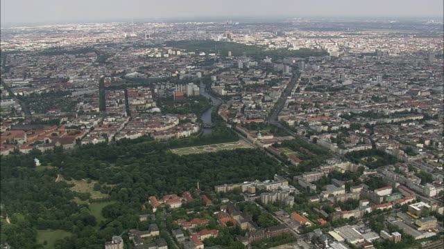 aerial view of berlin, brandeburg, germany - charlottenburg palace stock videos & royalty-free footage