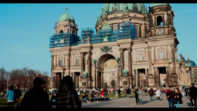 A view of Berlin Cathedral Church in Berlin Germany on February 18 2019