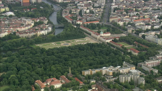 aerial view of berlin with charlottenburg palace, brandeburg, germany - charlottenburg palace stock videos & royalty-free footage