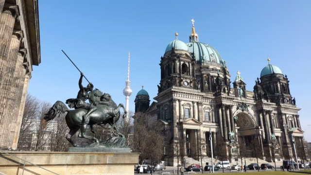 WS View of Berliner Dom (cathedral) and Altes Museum / Berlin, Germany