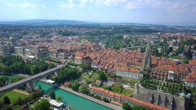 view of bern city, switzerland - switzerland stock videos & royalty-free footage