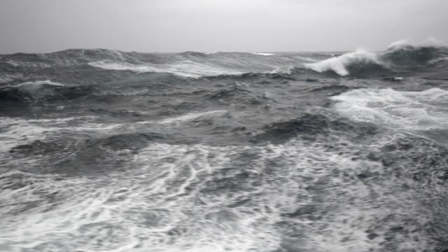 ws pov view of big waves in sea / drake passage, antarctica - drake passage stock videos and b-roll footage