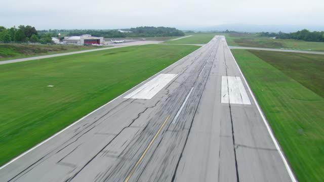 WS AERIAL View of Blacksburg Airport / Virginia, United States