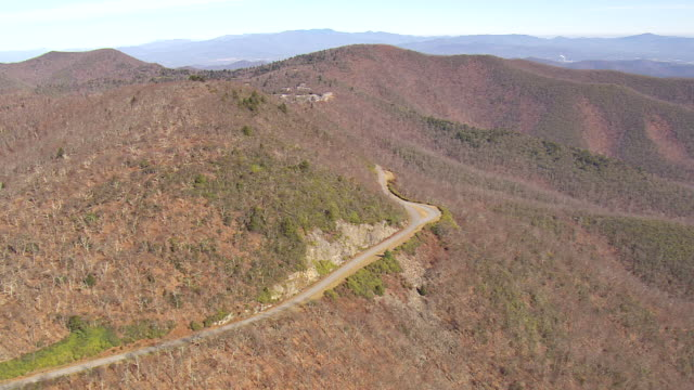 WS AERIAL View of blue ridge parkway / North Carolina, United States