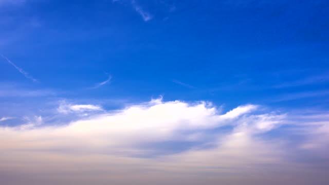 view of blue sky with some clouds - sky only stock videos & royalty-free footage