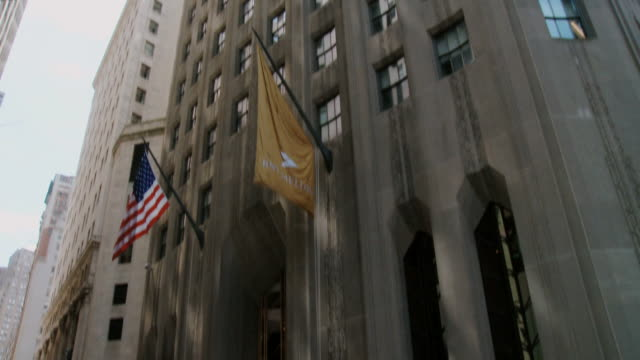 tu ws view of bny mellon building / new york city, new york state, usa  - the bank of new york stock videos and b-roll footage