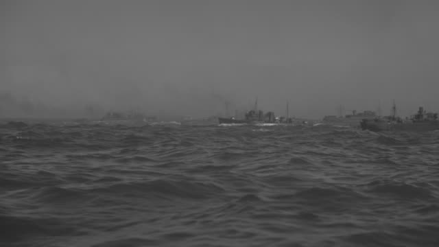 ws view of boats moving in sea and overtake other boats - convoy stock videos and b-roll footage