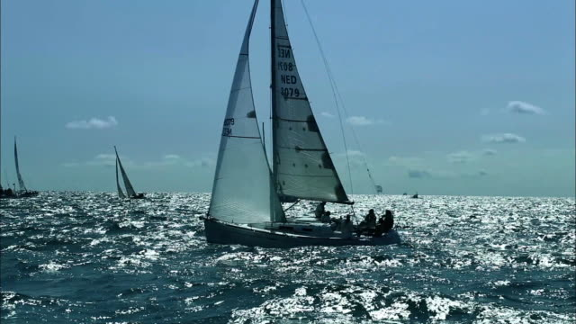 view of boats sailing in the baltic sea - baltic sea stock videos and b-roll footage