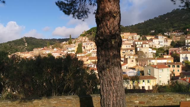 view of bormes-les-mimosas, france - var stock videos & royalty-free footage