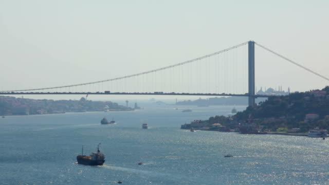 stockvideo's en b-roll-footage met uitzicht op de bosporus-brug - 15 juli martelaarsbrug