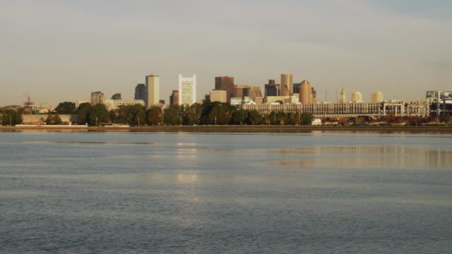 WS View of Boston across Charles river / Boston, Massachusetts, USA