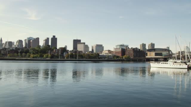 WS View of Boston from Charles river / Boston, Massachusetts, USA