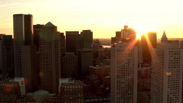 AERIAL, View of Boston, Massachusetts, USA