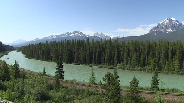 WS View of Bow River at Morants Curve / Banff Nationalpark, Alberta, Canada