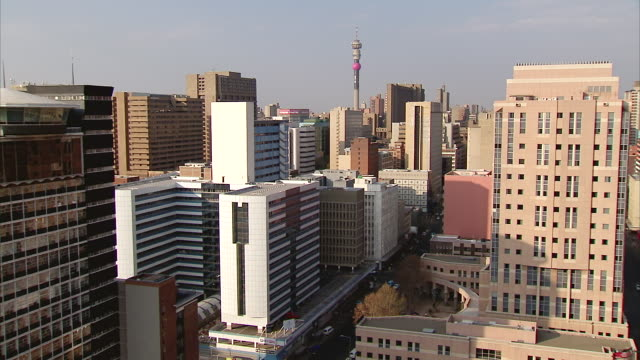 WS ZI View of Braamfontein including Telkom tower in Hillbrow / Johannesburg, Gauteng, South Africa