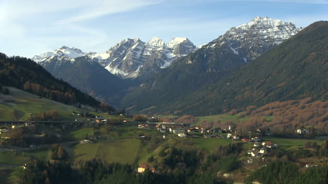 ws view of brenner highway near matrei / tyrol, austria - brennero stock videos and b-roll footage