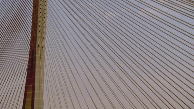 ms tu view of bridge / riyadh city, riyadh, saudi arabia - riyadh stock videos & royalty-free footage
