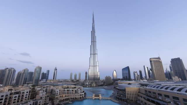 WS POV T/L View of Bruj Khalifa  tallest man made structure of world / Dubai,United Arab Emirates
