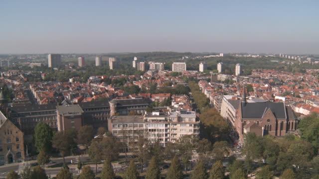 stockvideo's en b-roll-footage met ws view of brussels city at noon / brussels, brussels, belgium  - belgië