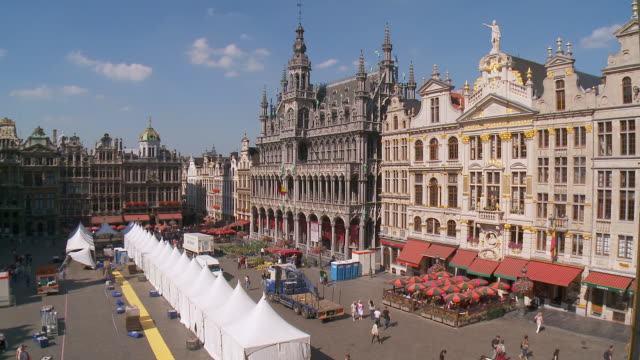 WS View of Brussels Grand Place / Brussels, Brussels Capital Region, Belgium