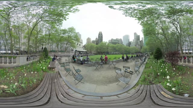 VR view of Bryant Park New York