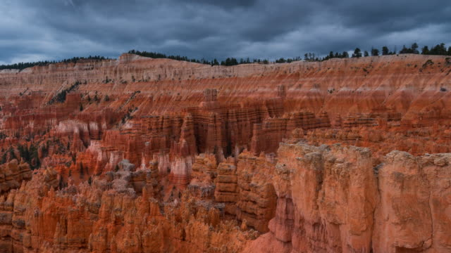 view of bryce canyon national park - rock hoodoo stock videos and b-roll footage