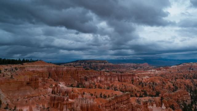 view of bryce canyon national park - bryce canyon stock videos and b-roll footage
