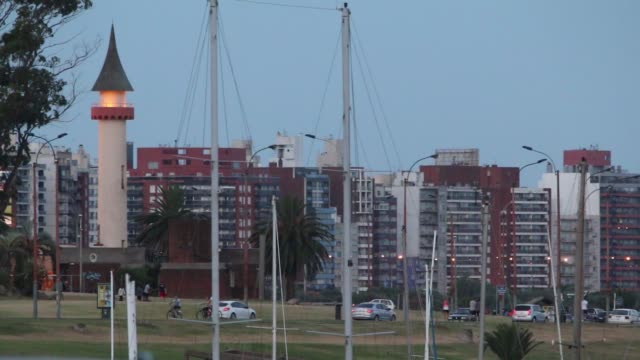 View of Buceo neighborhood from Puertito del Buceo, Montevideo, Uruguay