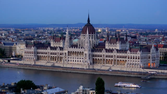 view of budapest parliament in hungary - column stock videos & royalty-free footage