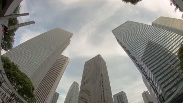 WS,T/L,LA View of building and sky. Shinjuku,Tokyo,Japan
