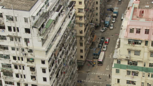 view of building hong kong, china - kowloon stock videos and b-roll footage