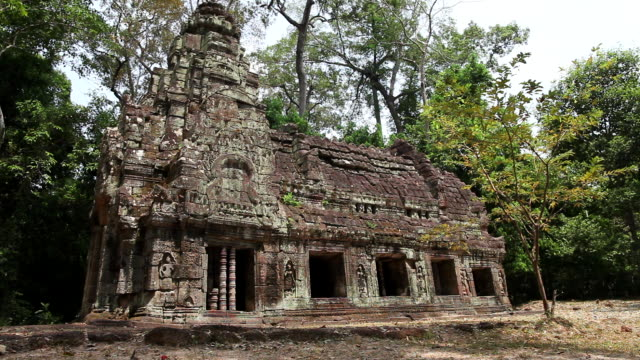 ws view of  building in forest / siem reap, siem reap, cambodia - cambodian culture stock videos and b-roll footage