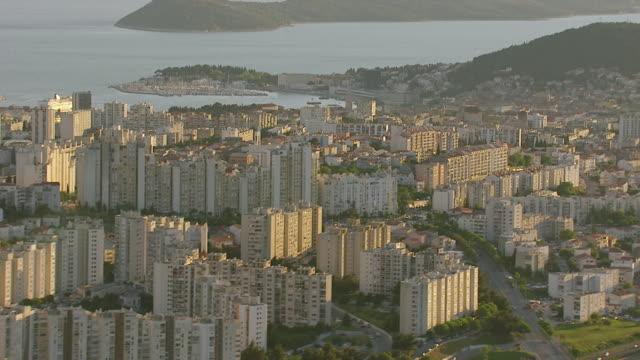 WS AERIAL View of building mansion / Split, Split Dalmatia County, Croatia
