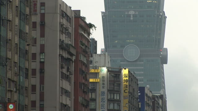 View of buildings in Taipei Taiwan