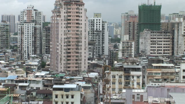 View of buildings in the city of Macau China