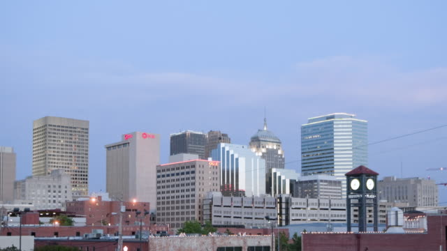 WS T/L View of  buildings of city / Oklahoma city, OK, United States