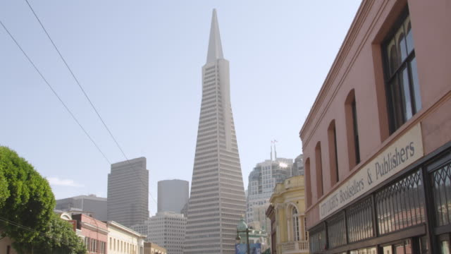 ws view of buildings top / san francisco, california, united states - western script stock videos & royalty-free footage