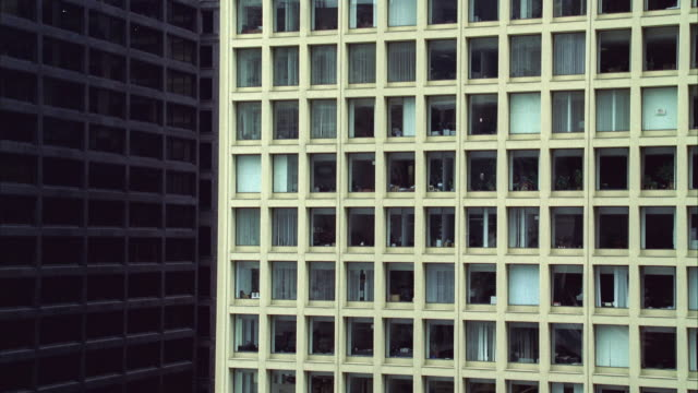 ms view of buildings - fensterfront stock-videos und b-roll-filmmaterial