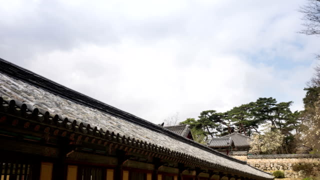 view of bulguksa(unesco world heritage) in gyeongju - north gyeongsang province stock videos and b-roll footage