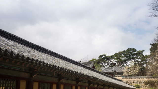 view of bulguksa temple(unesco world heritage site) - north gyeongsang province stock videos and b-roll footage