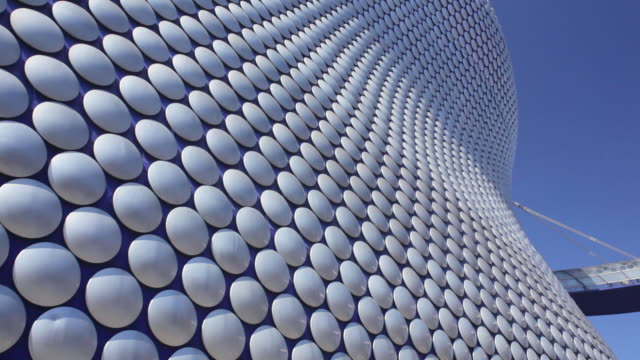 ms view of bullring shopping centre / birmingham, uk - aluminum点の映像素材/bロール