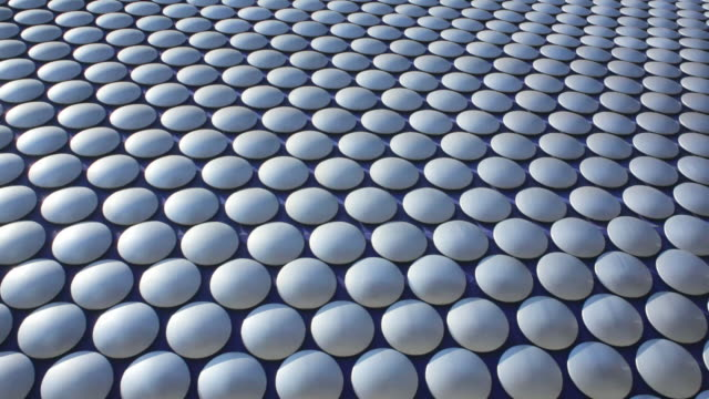 ms tu view of bullring shopping centre / birmingham, uk - aluminum stock videos and b-roll footage