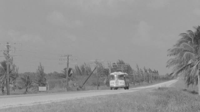 WS TS PAN View of Bus driving on road