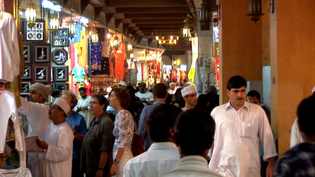 MS view of busy outdoor market / Marrakech, Morocco