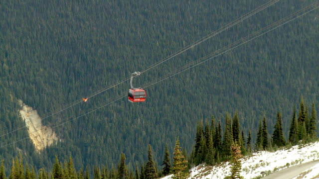 WS ZO View of cable car on Whistler Mountain / Whistler, British Columbia, Canada