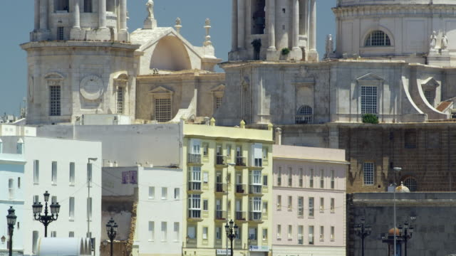 ws tu view of cadiz cathedral 'santa cruz de cadiz' / cadiz, spain - 2k resolution stock videos and b-roll footage