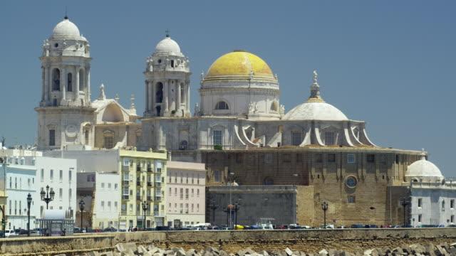 ws view of cadiz cathedral 'santa cruz de cadiz' / cadiz, spain - 2k resolution stock videos and b-roll footage
