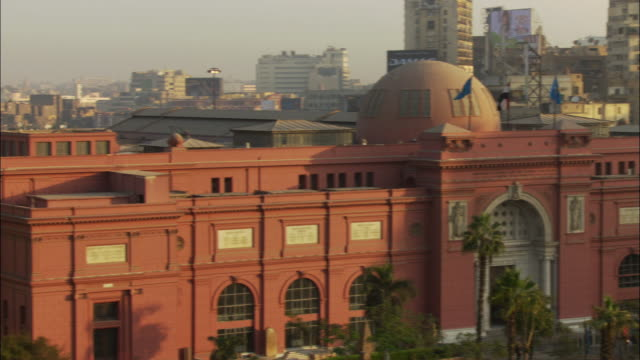 WS PAN View of Cairo museum / Cairo, Egypt