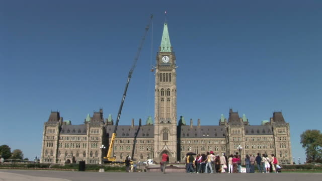 View of Canadian Parliament in Ottawa Canada